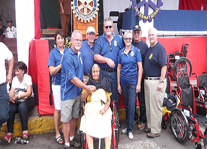 DIstributing Wheelchairs in Mexico